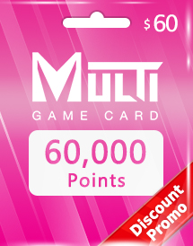 multi game card 60,000 points global discount promo