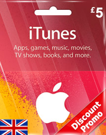 itunes gbp5 gift card uk discount promo