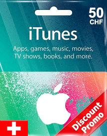 itunes chf50 gift card ch switzerland discount promo