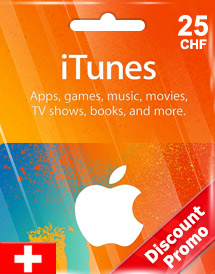 itunes chf25 gift card ch switzerland discount promo