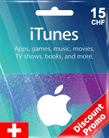 itunes chf15 gift card ch switzerland discount promo