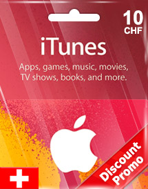 itunes chf10 gift card ch switzerland discount promo