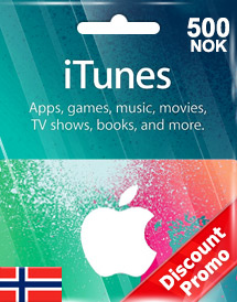 itunes nok500 gift card no discount promo