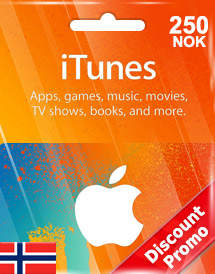 itunes nok250 gift card no discount promo