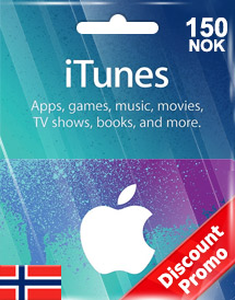 itunes nok150 gift card no discount promo