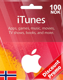 itunes nok100 gift card no discount promo