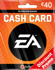 ea eur40 cash card de discount promo