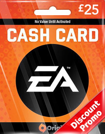 ea gbp25 cash card uk discount promo