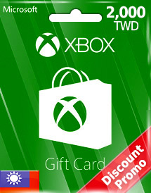 twd2,000 xbox live gift card tw discount promo