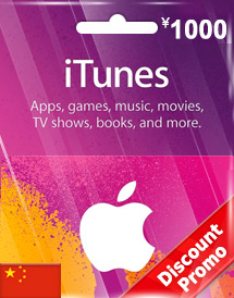 cny1,000 itunes gift card cn discount promo