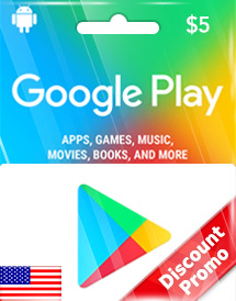 usd5 google play gift card us discount promo