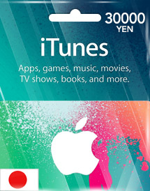 itunes 30,000yen gift card jp