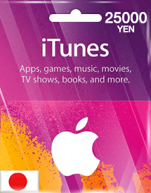 itunes 25,000yen gift card jp