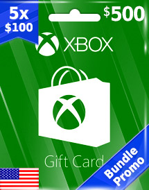 usd500 xbox live gift card us bundle promo