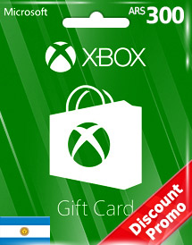 xbox live gift card ars300 ar discount promo