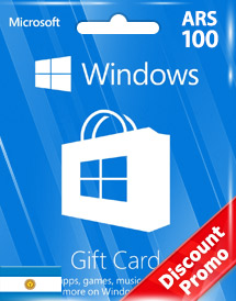 windows phone store ars100 gift card* ar discount promo