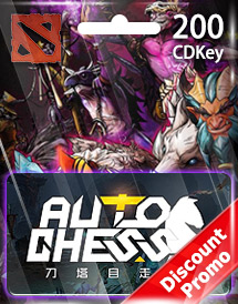dota auto chess 200 candy cdkey global discount promo