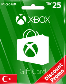 xbox live gift card try25 tr discount promo