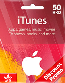 hkd50 itunes gift card hk discount promo