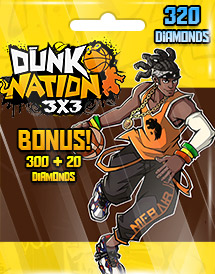 dunk nation 3x3 320 diamonds global