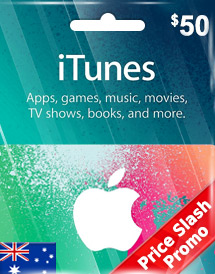 aud50 itunes gift card au price slash promo
