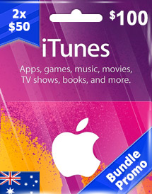 aud100 itunes gift card au bundle promo