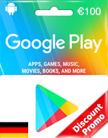 google play eur100 gift card de discount promo