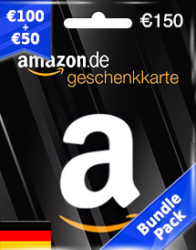 amazon gift card eur150 de bundle pack