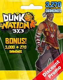 dunk nation 3x3 3,270 diamonds global discount promo