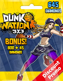 dunk nation 3x3 645 diamonds global discount promo