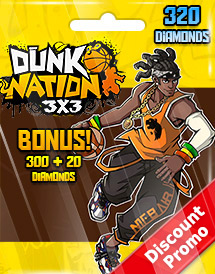dunk nation 3x3 320 diamonds global discount promo