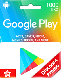 hkd1,000 google play gift card hk discount promo