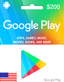 google play usd200 gift card us