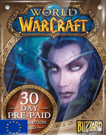 world of warcraft 30days pre-paid game card eu