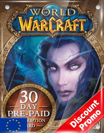 world of warcraft 30days pre-paid game card eu discount promo