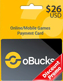 obucks card usd26 discount promo