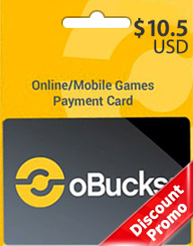 obucks card usd10.5 discount promo