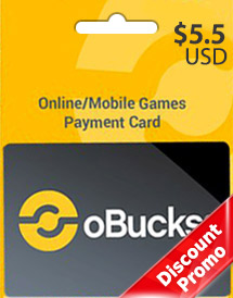 obucks card usd5.5 discount promo