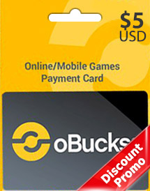 obucks card usd5 discount promo