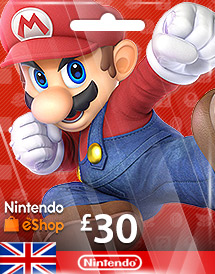 nintendo gbp30 eshop card uk