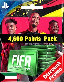 fifa 20 4,600 points pack ps4 kw discount promo