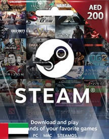 steam wallet 充值卡 200迪拉姆 阿联酋