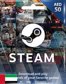 steam wallet 充值卡 50迪拉姆 阿联酋