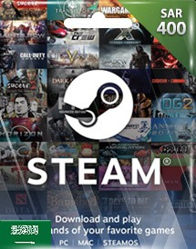 steam wallet 充值卡 400沙特里亚尔 沙特