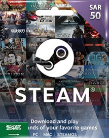 steam wallet 充值卡 50沙特里亚尔 沙特