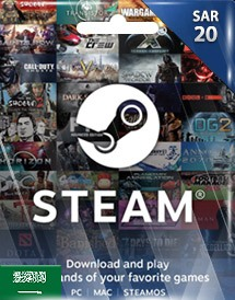steam wallet 充值卡 20沙特里亚尔 沙特