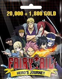 fairy tail hero's journey 20,000 + 1,800 gold eu/us