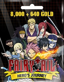 fairy tail hero's journey 8,000 + 640 gold eu/us