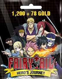 fairy tail hero's journey 1,200 + 78 gold eu/us