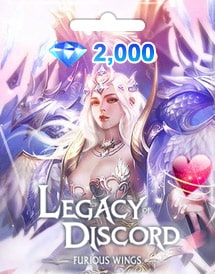 legacy of discord - furious wings 2,000 diamonds mobile gtarc